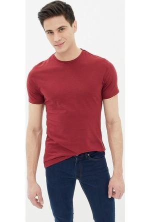 Koton Erkek Düz T-Shirt Kırmızı