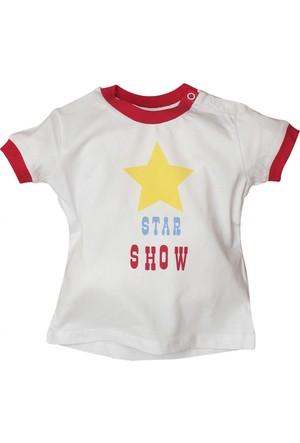 Soobe Show Erkek Bebek Kısa Kol T-Shirt Beyaz