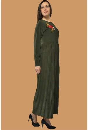 Modamla Yaka Nakış Sendy Elbise