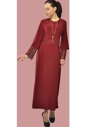Modamla Kol Ağzı Küpürlü Sendy Elbise