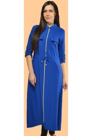 Modamla Fermuarlı Tokalı Uzun Tunik