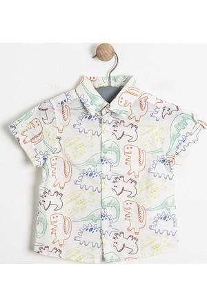 Soobe Erkek Newborn Gömlek Baskılı 92