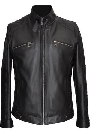 Catsuit Erkek Deri Ceket Siyah - 35157