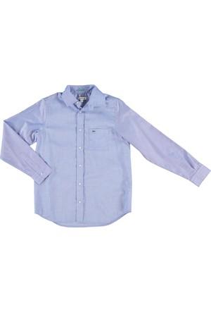Lacoste Erkek Çocuk Standard Fit Gömlek Açık Mavi CJ45721