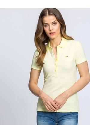 Lacoste Kadın Polo T-Shirt Sarı PF52891