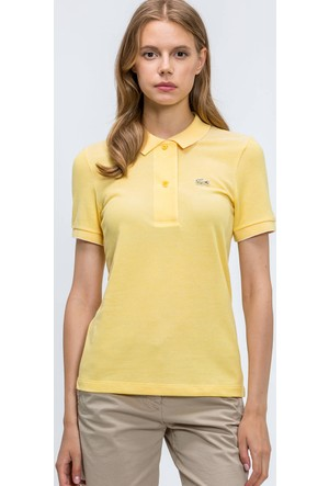 Lacoste Kadın Polo T-Shirt Sarı PF53781