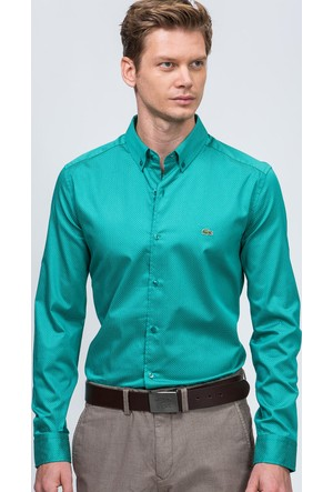 Lacoste Erkek Gömlek Yeşil CH06021