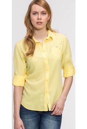 Lacoste Kadın Gömlek Sarı CF06921