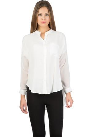 Colin's Beyaz Kadın Uzun Kollu Gömlek