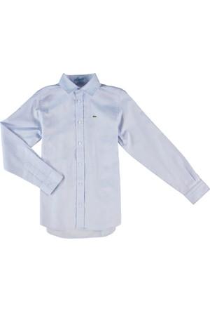 Lacoste Erkek Çocuk Gömlek Mavi CJ6499