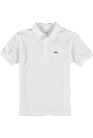 Lacoste Erkek Çocuk Kısa Kollu Polo T-Shirt Beyaz L1812