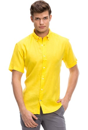 Nautica Erkek Gömlek Sarı W54152T