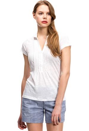 Nautica Kadın Polo T-Shirt Beyaz 549K420
