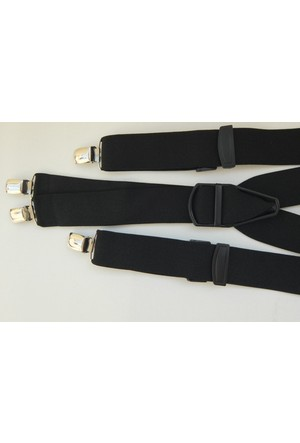 Kemer Sepeti Dört Klipsli Siyah Pantolon Askısı