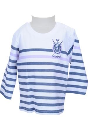 Zeyland Erkek Çocuk Beyaz Uzun Kol T-shirt - 71M1LJM61