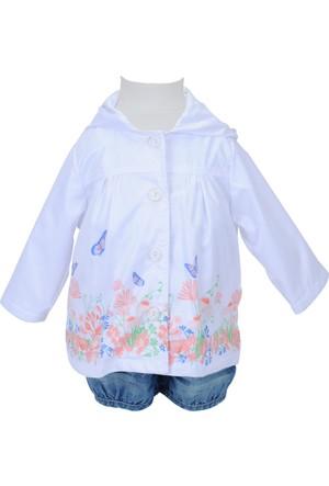 Zeyland Kız Çocuk Beyaz Yağmurluk - 71M2LKF22
