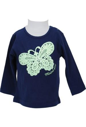 Zeyland Kız Çocuk Lacivert Uzun Kol T-shirt - 71M2YSR61
