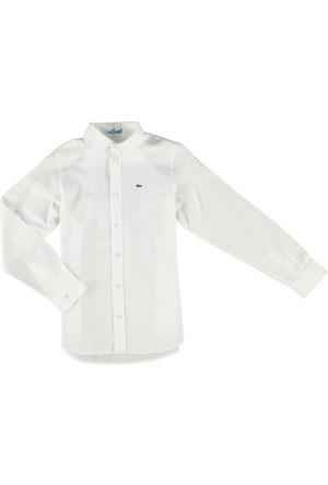 Lacoste Erkek Çocuk Gömlek Beyaz CJ64991