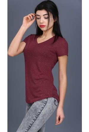 Majör V Yaka Düz T-Shirt