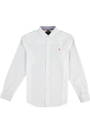 Nautica Erkek Çocuk Gömlek Beyaz N874316Q