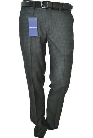 Arvedo Erkek Pantolon Ekose Siyah Kahve Slim Fit 83113