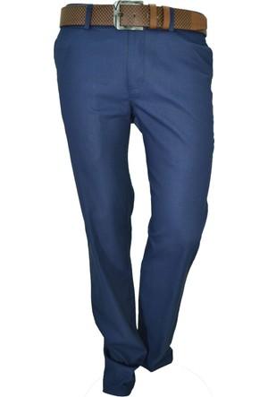 Arvedo Erkek Pantolon Baskılı Denim Mavi Slim Fit 83117