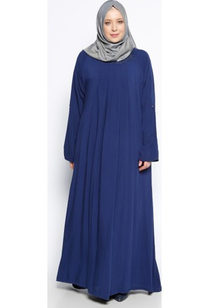 Drop Baskılı Elbise - Lacivert - Ginezza