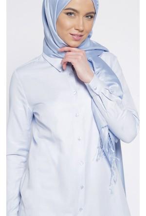 Sivri Yaka Gömlek - Mavi - Everyday Basic