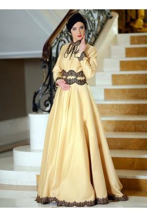 Juliet Abiye Elbise - Gold - Zehrace