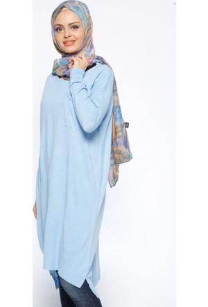Triko Tunik - Mavi - Seyhan Fashion
