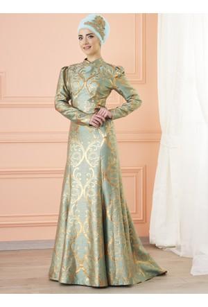 Gülce Abiye Elbise - Mint - Mevra