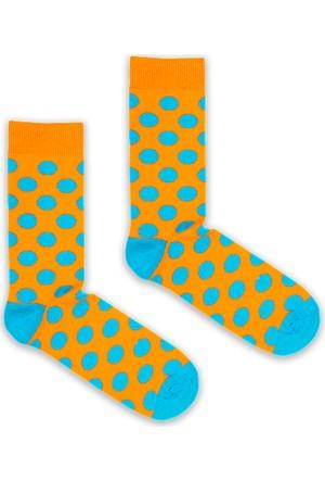 Bryt Çorap Mavi-Turuncu Benekli