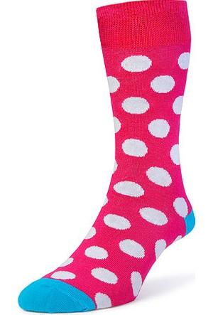Bryt Çorap Pembe Beyaz Benekli