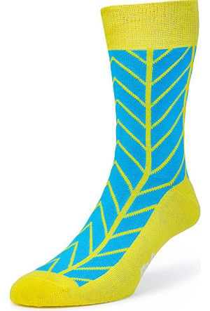Bryt Çorap Mavi Sarı Desenli