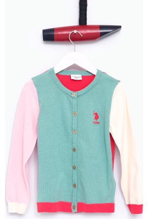 U.S. Polo Assn. Kız Çocuk Agatha Hırka Mint