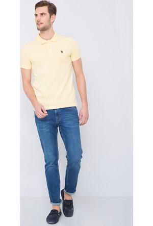 U.S. Polo Assn. Erkek Gtp04İy7 Polo T-Shirt Sarı