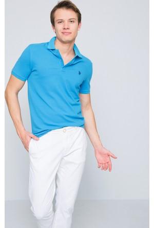 U.S. Polo Assn. Erkek Gtp04İy7 Polo T-Shirt Mavi