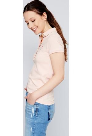 U.S. Polo Assn. Kadın Tp01İy07-011 Polo T-Shirt Pembe