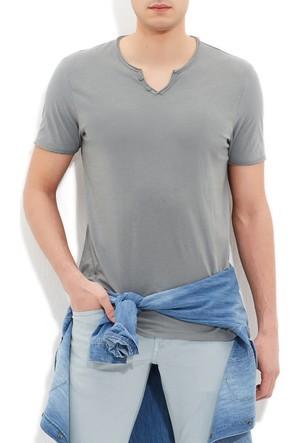 Mavi Erkek Düğmeli Yaka Yeşil Basic T-Shirt