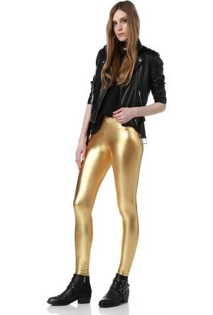 Fashiontayt Gold Deri Tayt