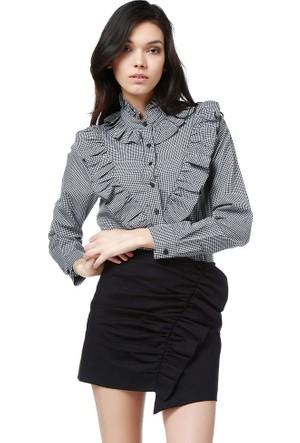 Bsl Fashion Siyah Gömlek 9136