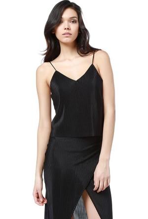 Bsl Fashion Siyah Bluz 9131