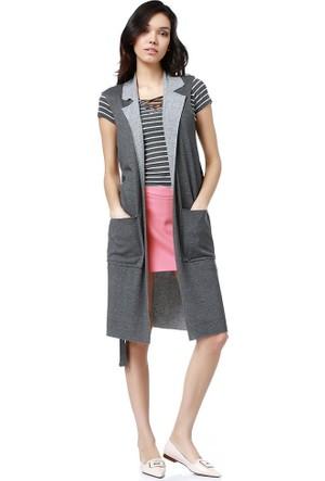Bsl Fashion Antrasit Yelek 9092