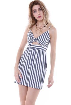 Bsl Fashion Lacivert Elbise 9174