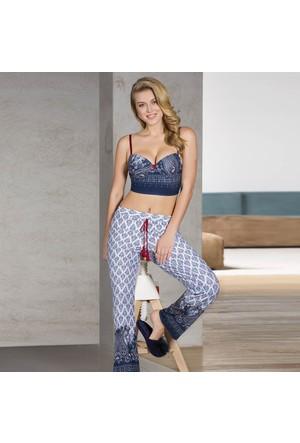 Anıl 4135 Destekli Bustiyer Pantolon Yazlık Bayan Giyim