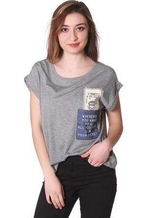 Barrelsandoil Çift Cepli Salaş T-Shirt-6541