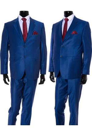 GiyimGiyim ALTINYILDIZ 4 Drop Klasik Kesim Mavi Piti Kare Takım Elbise