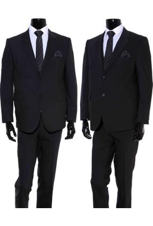 GiyimGiyim ALTINYILDIZ 4 Drop Klasik Kesim Siyah Erkek Takım Elbise