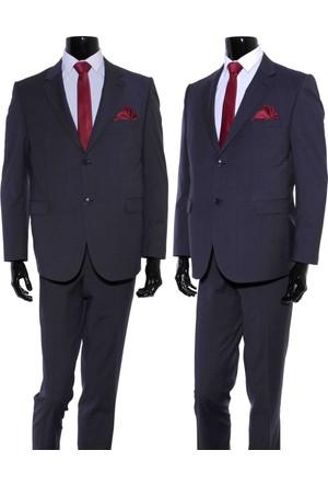 GiyimGiyim ALTINYILDIZ 4 Drop Klasik Kesim Füme Kareli Takım Elbise