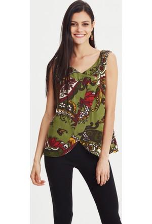 Los Banditos Kadın Yeşil Paradise Bluz B23